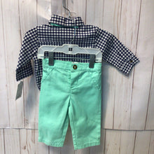 Load image into Gallery viewer, Carter's 3pc Outfit Button Down, Pants and Bow tie 3m