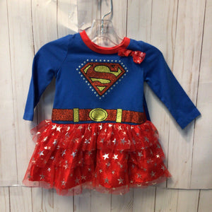 Super Girl Dress with Removable Cape, Baby Girl, 12 Months