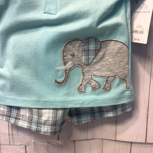Carters 2pc Elephant Top and Matching Shorts, Baby Boy, 9 Months