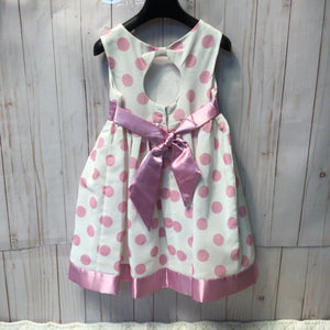 Princess Faith Polka Dot Dress with Cut out Back Size 4T