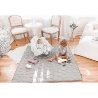 Kids in clean room on Grey Nook Lilypad2 Best Baby and Toddler Play mat