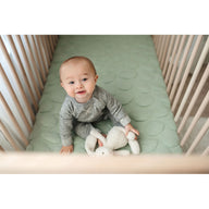 best breathable baby crib mattress sea foam green