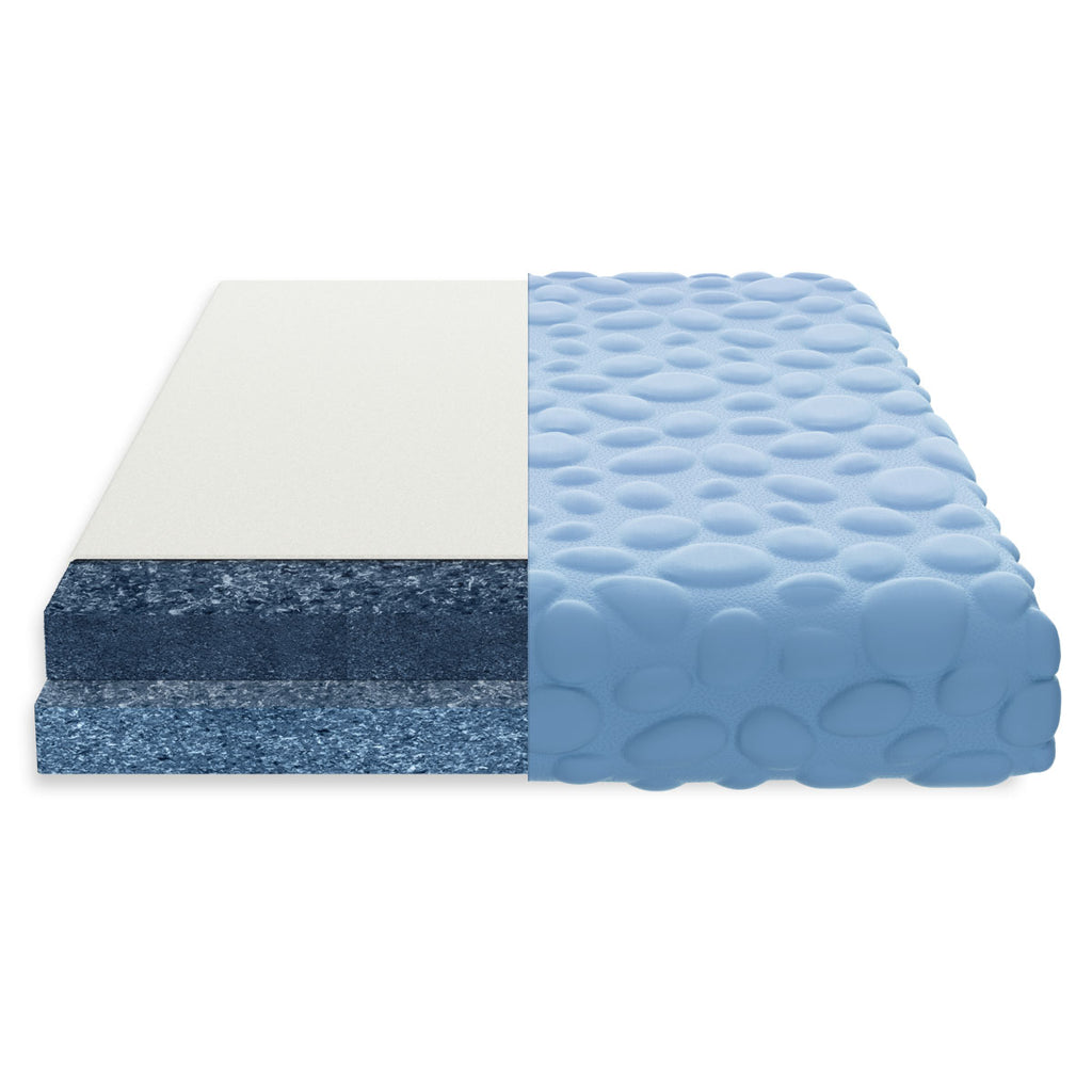 sustainable cotton breathable crib mattress for baby and toddler blue pebble nook