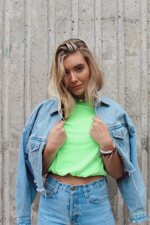 Radiance greeny crop top