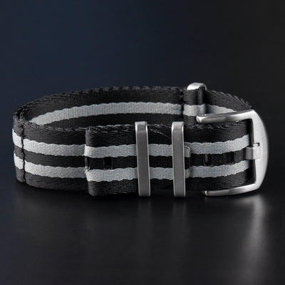 Gray and Black Nylon MIL Strap - NATO Style