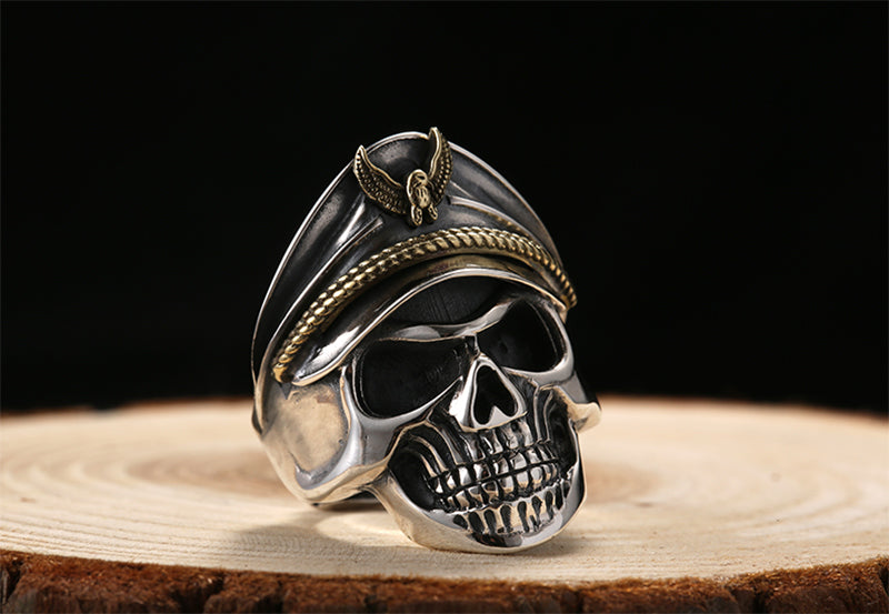 Mens Rings Skull Rings Sterling Silver