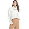 Acrylic Knitted Sweater for Women Plus Size  Turtleneck  Long Sleeve