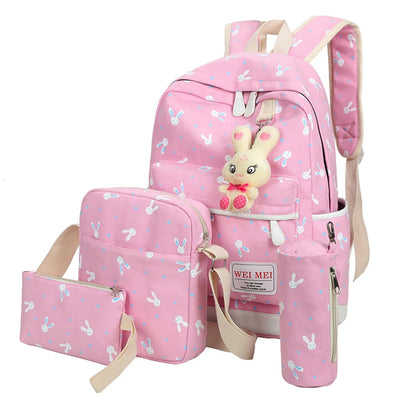 Canvas Backpacks for Women 4 Pieces / Set