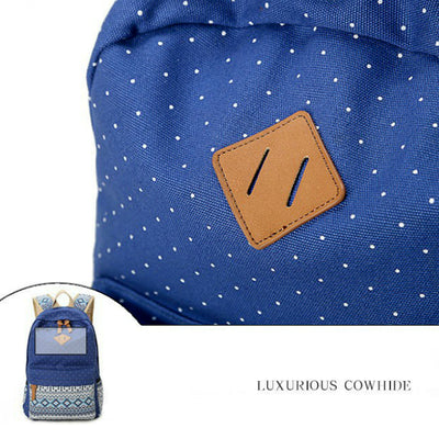 Backpacks for Women Canvas Dot