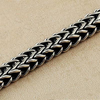 Silver Bracelet for Men Classic Wire-cable Link Chain