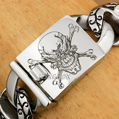 Men's Bracelets Pirate Skull Stainless Steel
