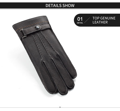 Leather Gloves Full Finger Touch Screen