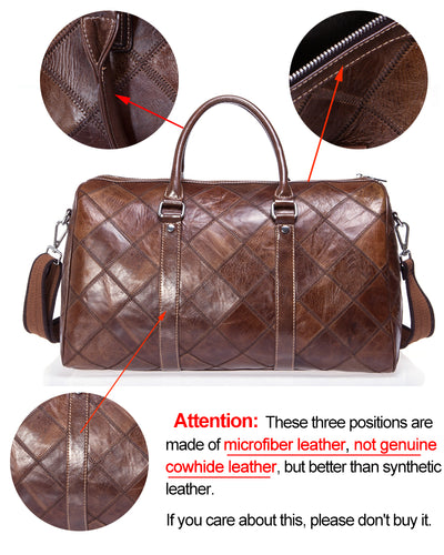 Travel Genuine Leather  Bag for  Men