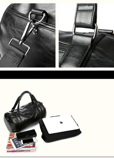 Gym PU Leather  Bag for Men Women