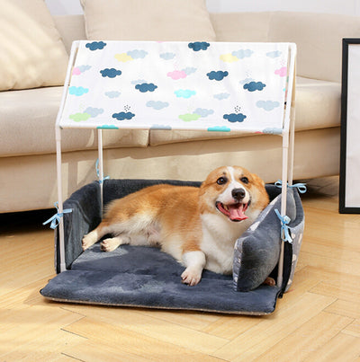 Foldable Large Dog House with Light