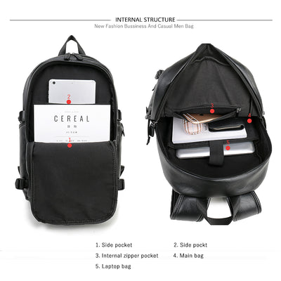 Leather Backpack for Men Waterproof