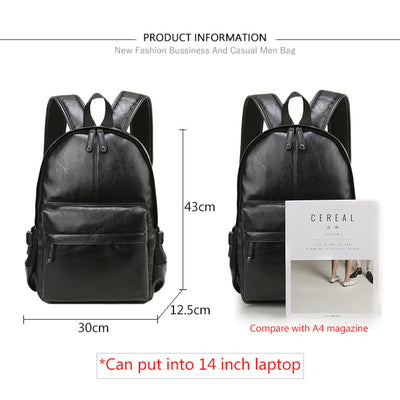Leather Backpack for Men