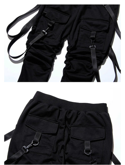 Mens Pants Hip Hop Belt Streetwear
