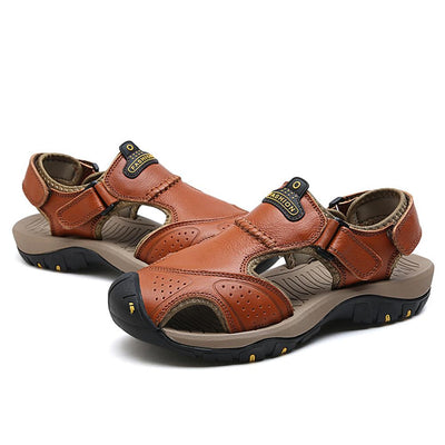 Mens Sandals Genuine Leather