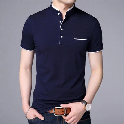 T Shirts for Men Short Sleeve Mandarin Collar