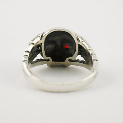 Silver Rings Skull Pattern Skeleton
