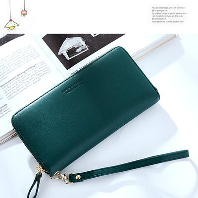 Wallets for Women Leather Long Clutch