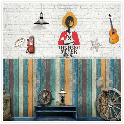 3D Wallpapers  Vintage Wooden  Waterproof