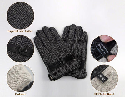 Leather  Gloves Patchwork  for Men