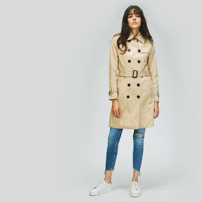 Womens  Raincoat Office Lady