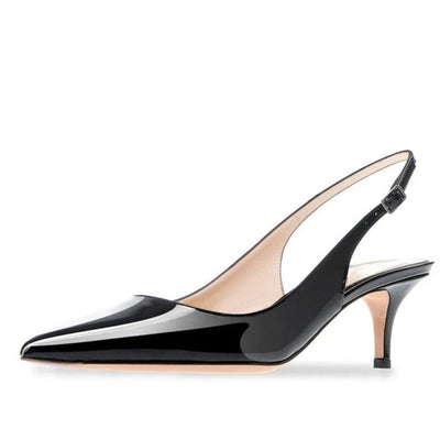High Heel Shoes Pointed Toe Slingback for Women