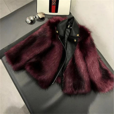 Family  Matching Outfits  Faux Fur Leather Jacket