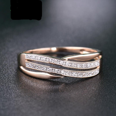 Gold  Ring for Women with Sparkling Diamond