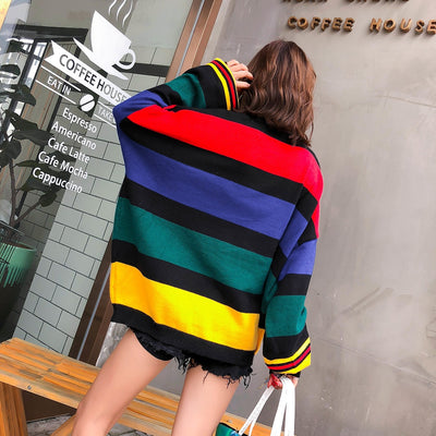 Spandex Knitted  Sweater for  Women Plus Size Puff Sleeve Turtleneck