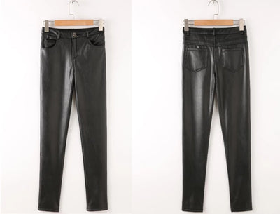 Leather Pants with Velvet for Women  Plus Size