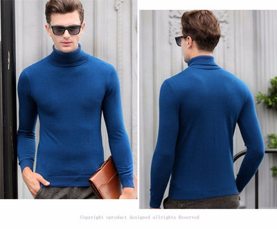 Cashmere  Knitted Sweaters for Men  Pullover Turtleneck