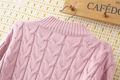 COTTON WOOL  Knitted Sweater for Women Plus Size Turtleneck Pullover