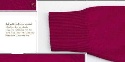Cashmere Knitted Sweater for Women Plus Size
