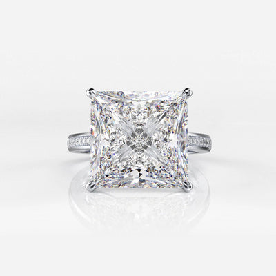 Sterling Silver  Rings for Women with Square Moissanite Diamonds