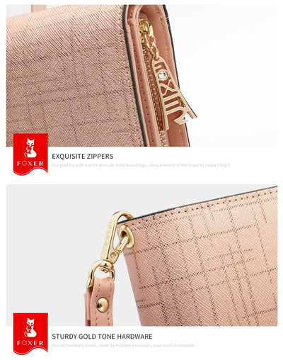 Women's Wallet  Zipper Clutch Bag with Wristlet