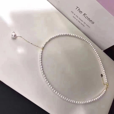Pearl Choker Necklace with 18k Gold Clasp