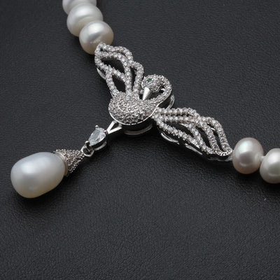 Pearl Choker Necklace with Silver Clasp
