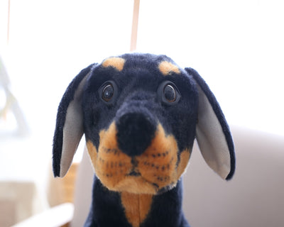Plush Toys Lifelike Black Dog