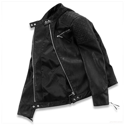 Leather Motorcycle Jacket Skull