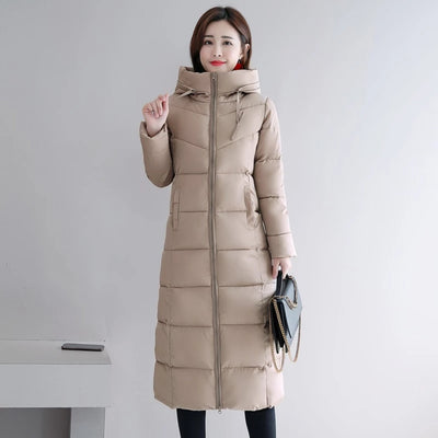 Winter Coats for Women Plus Size Hooded Stand Collar Cotton Padded