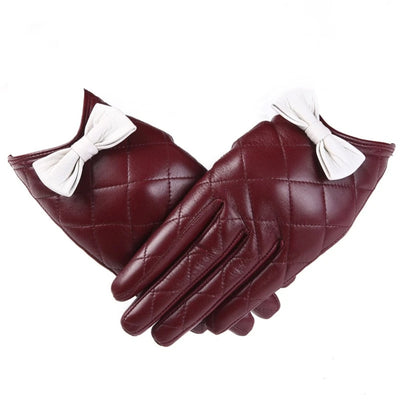 Winter  Gloves for Women Genuine Leather Touch Screen