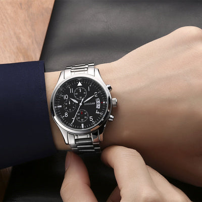 Men Watches Luxury Quartz Stainless Steel Waterproof Luminous