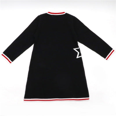 Cotton Knitted Sweater Pullover for Girls Geometric Pattern