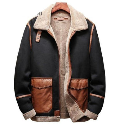 Leather Jacket Mens Plus Size Automotive Overcoats Velvet