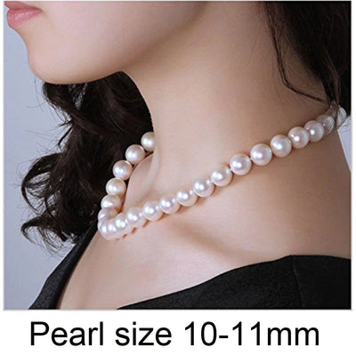 Pearl Choker Necklace with Silver Clasp for Women