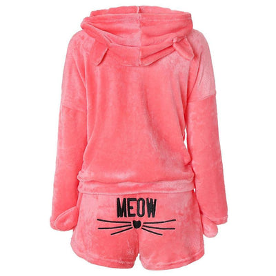 Sexy Pajamas for Women 2 Pcs Set  Winter Home Suit Plus Size